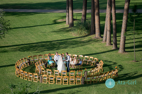 Unique Ceremony Seating Ideas For Outdoor Weddings: Spiral Wedding Ceremony Seating